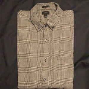 JCrew menswear plaid long sleeve shirt